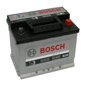 Автомобильный аккумулятор BOSCH S3 005 12V 56Ah 480A обратная полярность (0092S30050)