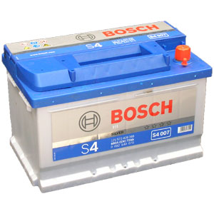 Автомобильный аккумулятор BOSCH S4 007 Silver 12V 72Ah 680A обратная полярность (0092S40070)